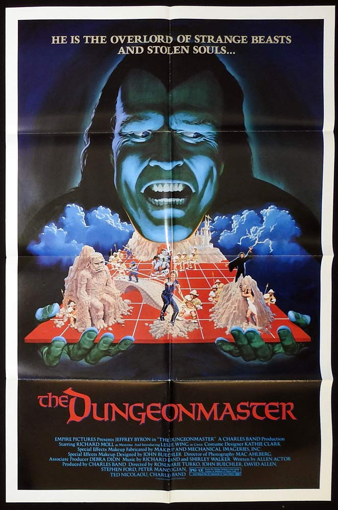 THE DUNGEONMASTER Original US One Sheet Movie Poster Horror Jeffrey Byron Richard Moll