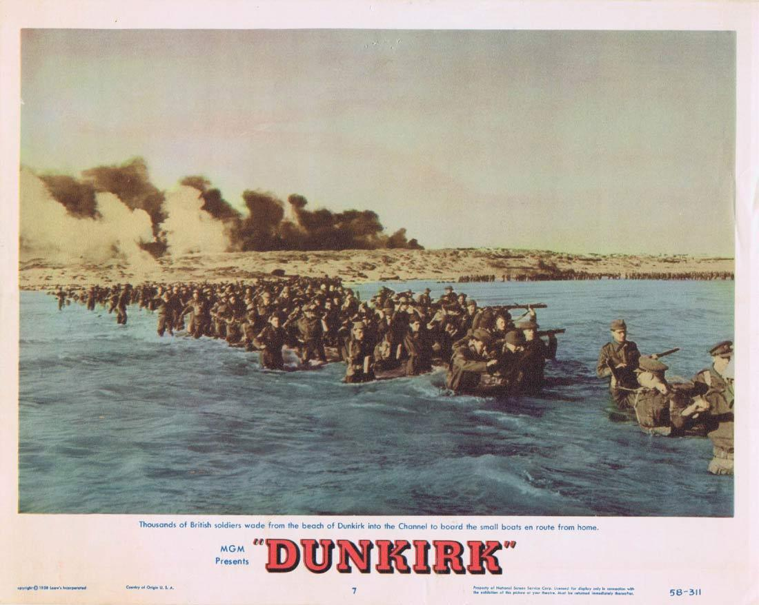 DUNKIRK Lobby Card 7 John Mills Richard Attenborough Bernard Lee