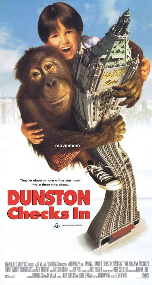 DUNSTON CHECKS IN Original Daybill Movie poster Jason Alexander