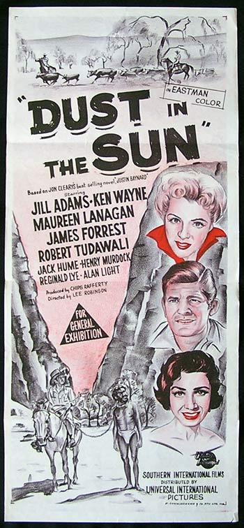 DUST IN THE SUN Original Daybill Movie poster Australian Aboriginal