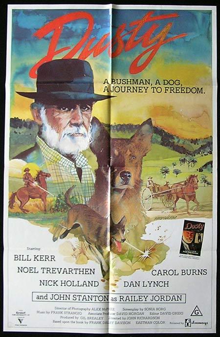 DUSTY Movie Poster 1983 Bill Kerr RARE Australian One sheet