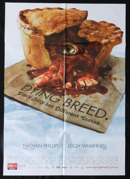 DYING BREED Movie poster 2008 Leigh Whannell Australian Cinema One sheet Folded