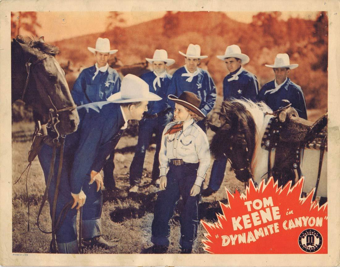 DYNAMITE CANYON Original Lobby Card 2 Tom Keene Sugar Dawn Slim Andrews 1941