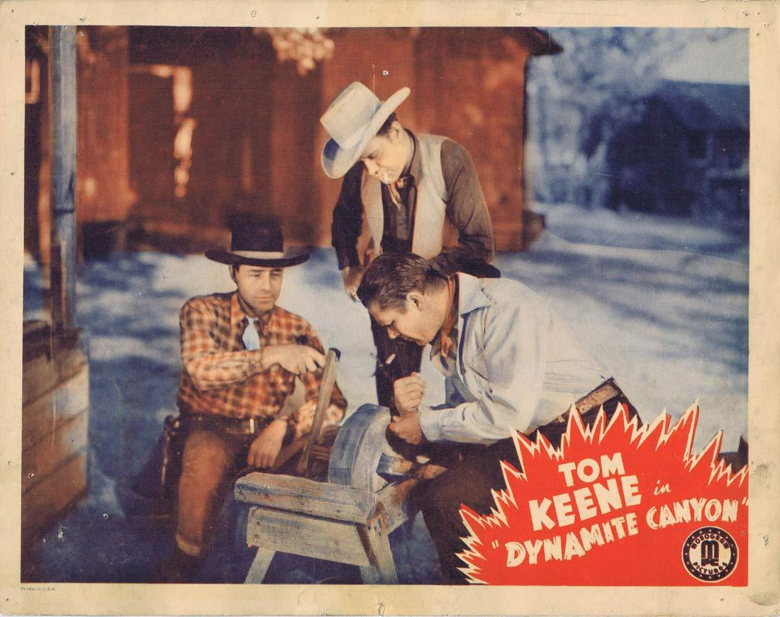 DYNAMITE CANYON Original Lobby Card 3 Tom Keene Sugar Dawn Slim Andrews 1941