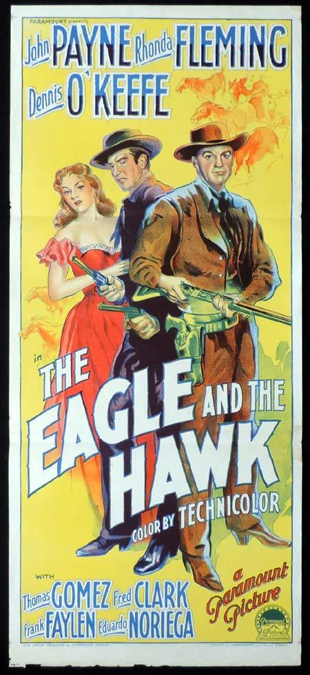 THE EAGLE AND THE HAWK Original Daybill Movie Poster JOHN PAYNE Rhonda Fleming Richardson Studio