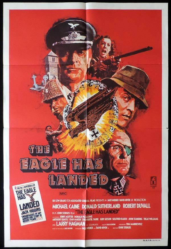 THE EAGLE HAS LANDED One Sheet Movie Poster Jenny Agutter Michael Caine