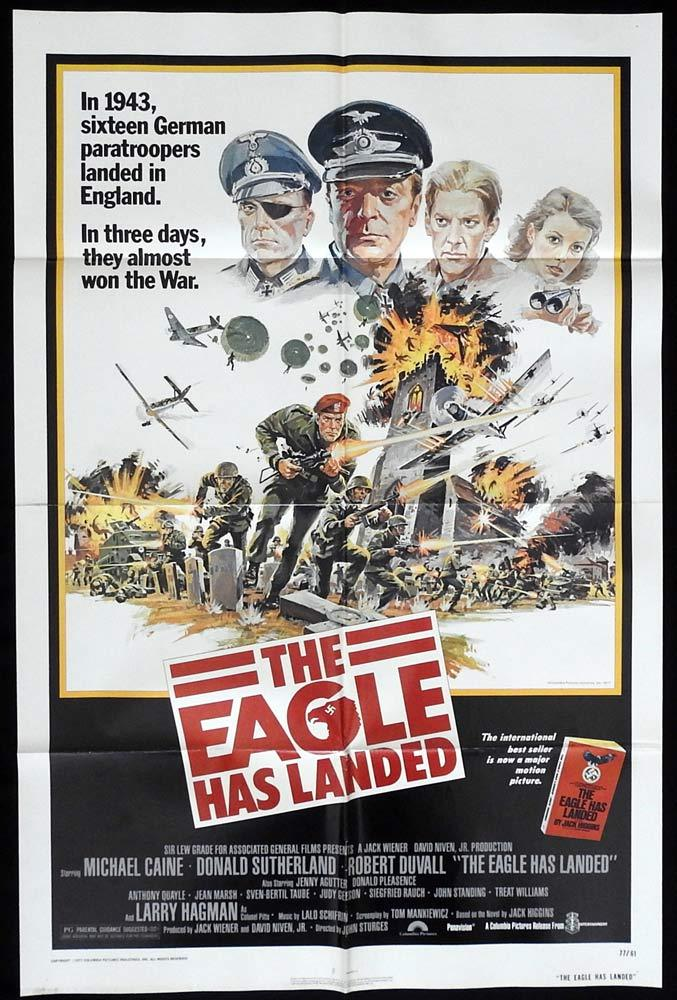 THE EAGLE HAS LANDED Original One sheet Movie poster Donald Sutherland Michael Caine