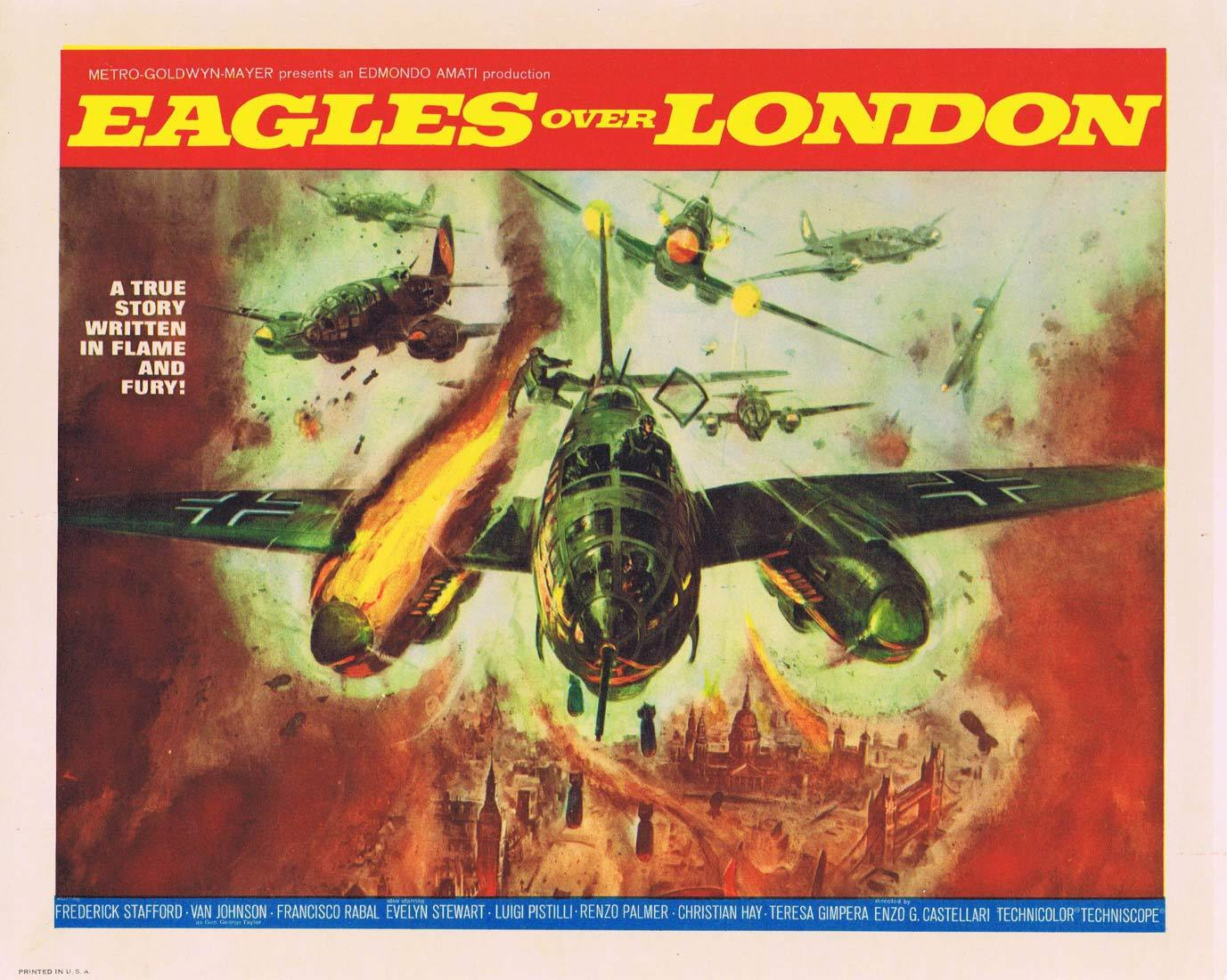 EAGLES OVER LONDON Original Title Lobby Card Frederick Stafford