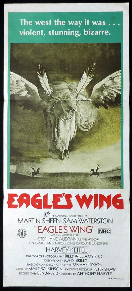 EAGLE'S WING Original Daybill Movie Poster Martin Sheen Sam Waterston Harvey Keitel.