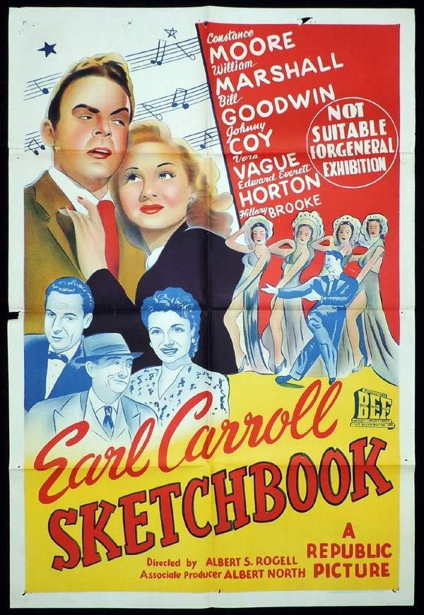 EARL CARROLL SKETCHBOOK One Sheet Movie Poster EARL CARROLL SKETCHBOOK Constance Moore Vera Vague