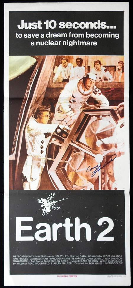 EARTH 2 Original Daybill Movie Poster AUTOGRAPHED by Gary Lockwood