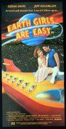 EARTH GIRLS ARE EASY Australian daybill Movie poster Geena Davis Jeff Goldblum