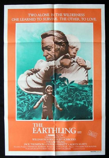 EARTHLING Movie poster 1980 William Holden Australian Film 1 sht