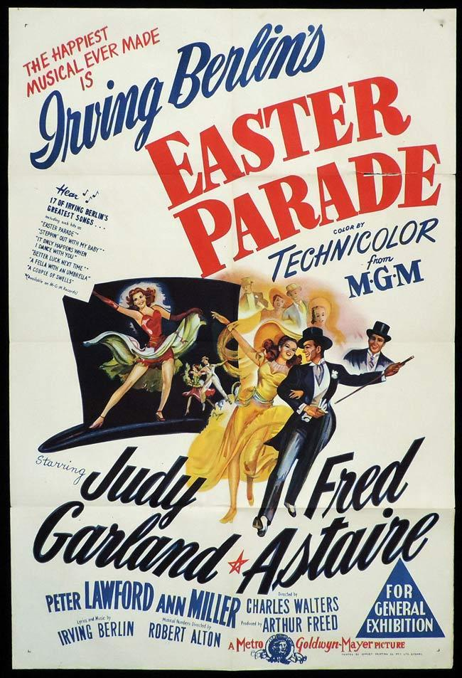 EASTER PARADE Original One sheet Movie Poster Judy Garland Fred Astaire