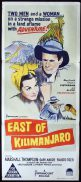 EAST OF KILIMANJARO Original Daybill Movie Poster Marshall Thompson Gaby André Kris Aschan