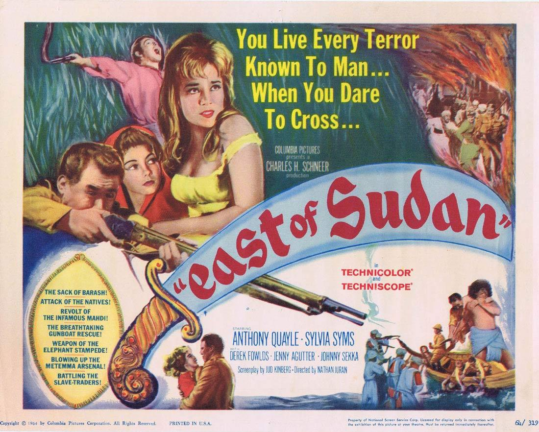 EAST OF SUDAN 1964 Anthony Quayle Sylvia Sims TITLE Lobby Card