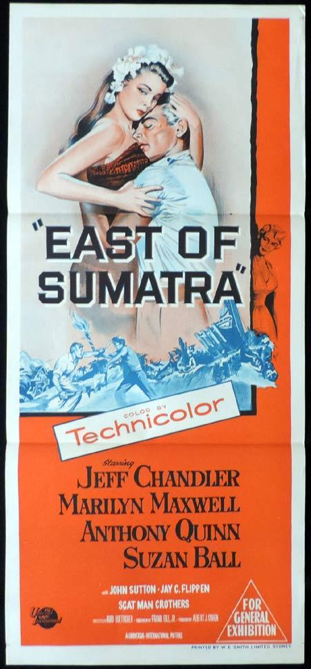 EAST OF SUMATRA Original Daybill Movie Poster Clark Gable Greer Garson