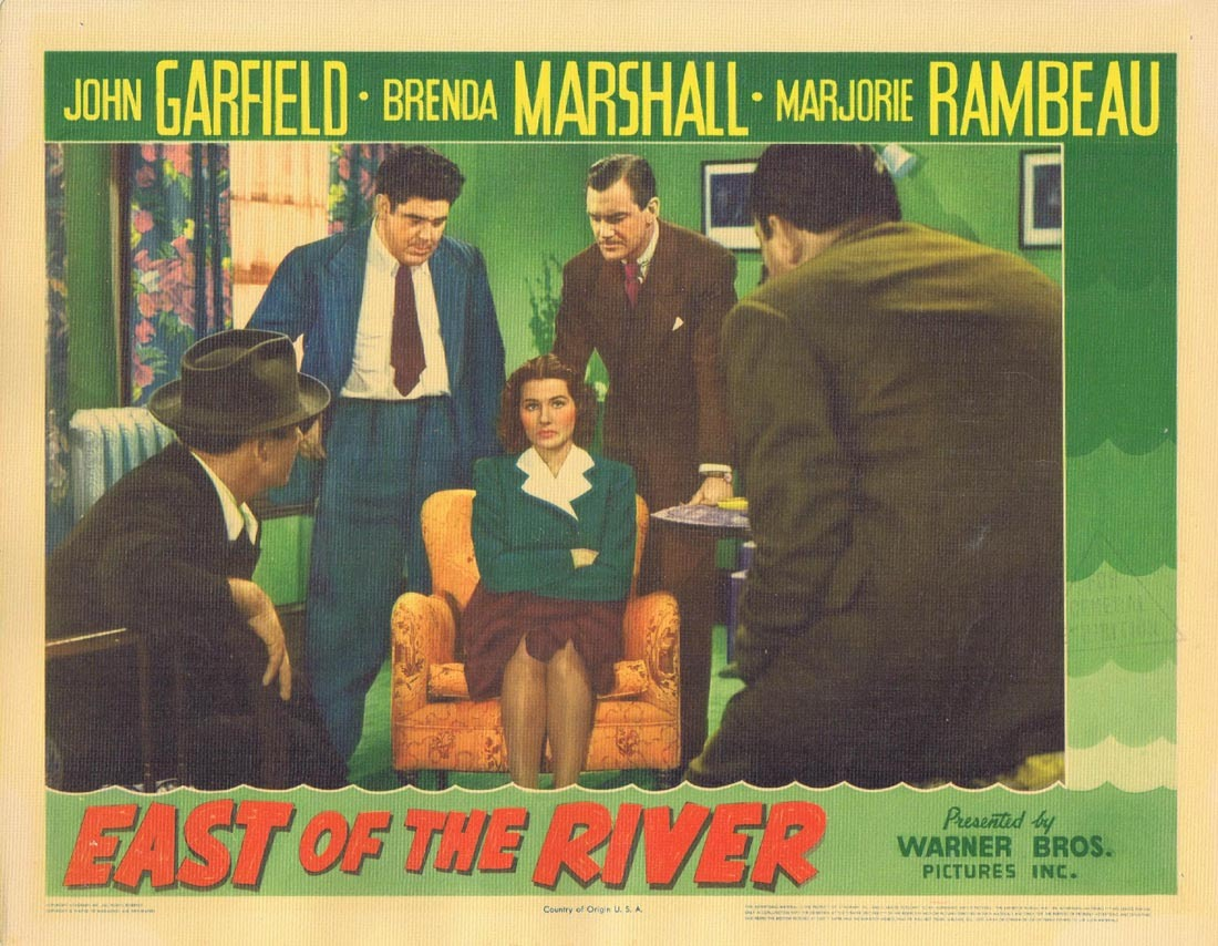 EAST OF THE RIVER Lobby Card 5 John Garfield Brenda Marshall Marjorie Rambeau