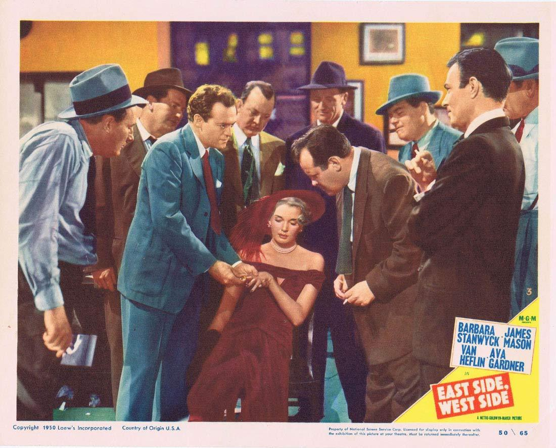 EAST SIDE WEST SIDE Original Lobby Card 3 Barbara Stanwyck James Mason Van Heflin