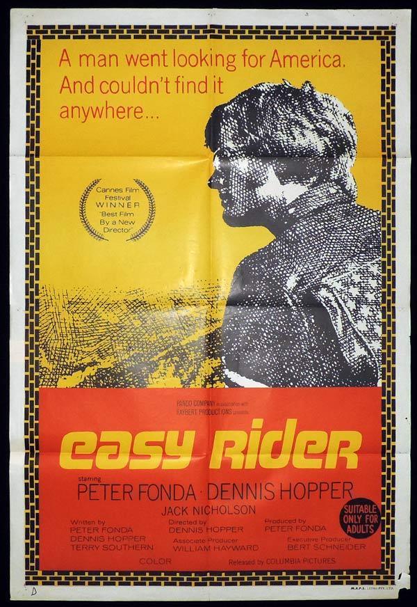 EASY RIDER One Sheet Movie Poster Peter Fonda