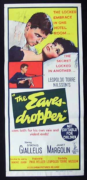THE EAVESDROPPER 1964 El ojo que espia Janet Margolin VINTAGE Daybill Movie poster