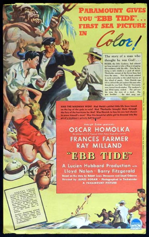EBB TIDE 1938 Oscar Homolka VINTAGE Original Movie Trade Ad