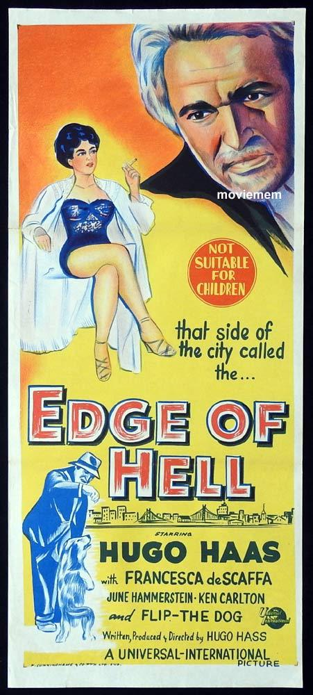 EDGE OF HELL Original Daybill Movie Poster Hugo Haas Francesca De Scaffa