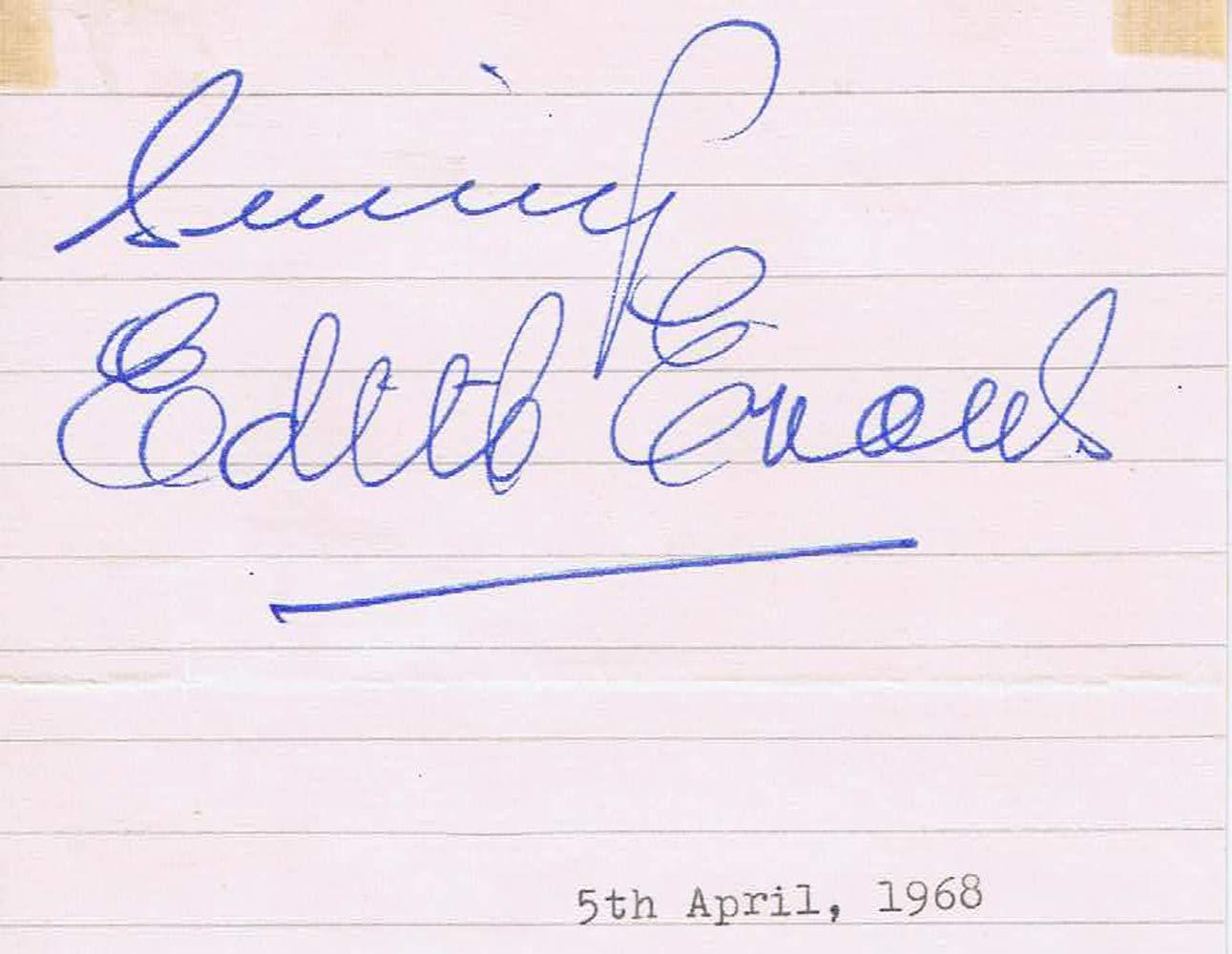 DAME EDITH EVANS Autograph