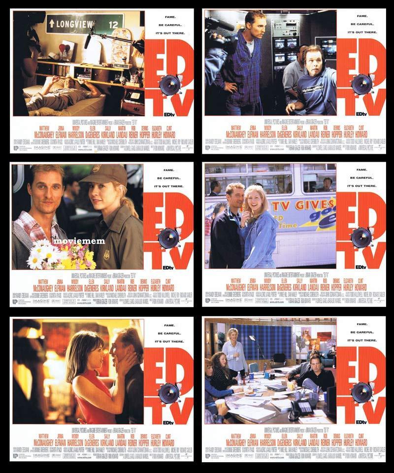 EDtv 6 x Original  Lobby Cards Matthew McConaughey Jenna Elfman
