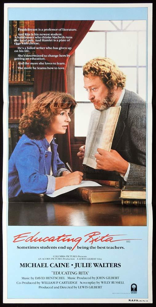 EDUCATING RITA Original daybill movie poster Michael Caine Julie Walters