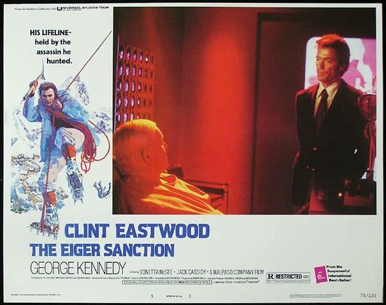 THE EIGER SANCTION 1975 Clint Eastwood Lobby Card 3