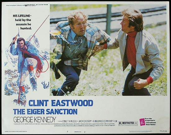 THE EIGER SANCTION 1975 Clint Eastwood Lobby Card 7