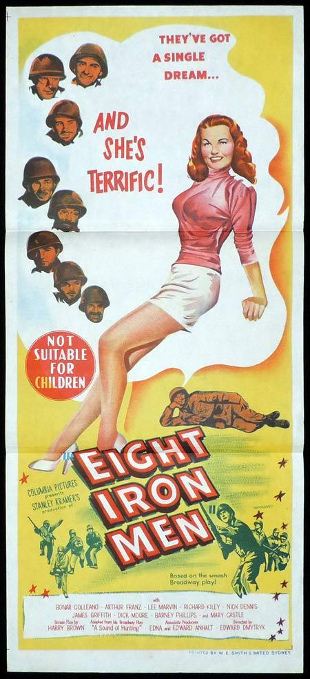 EIGHT IRON MEN Original Daybill Movie Poster Bonar Colleano Lee Marvin