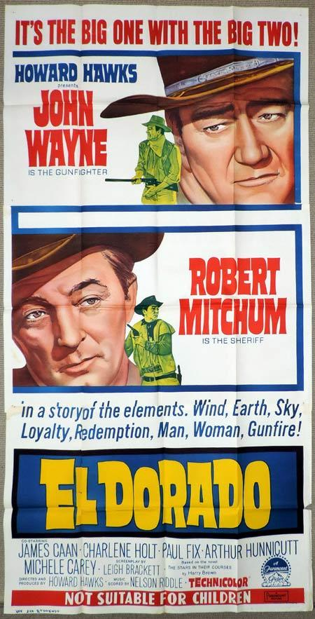 EL DORADO Original 3 Sheet Movie Poster John Wayne