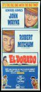 EL DORADO Original Daybill Movie Poster John Wayne Robert Mitchum