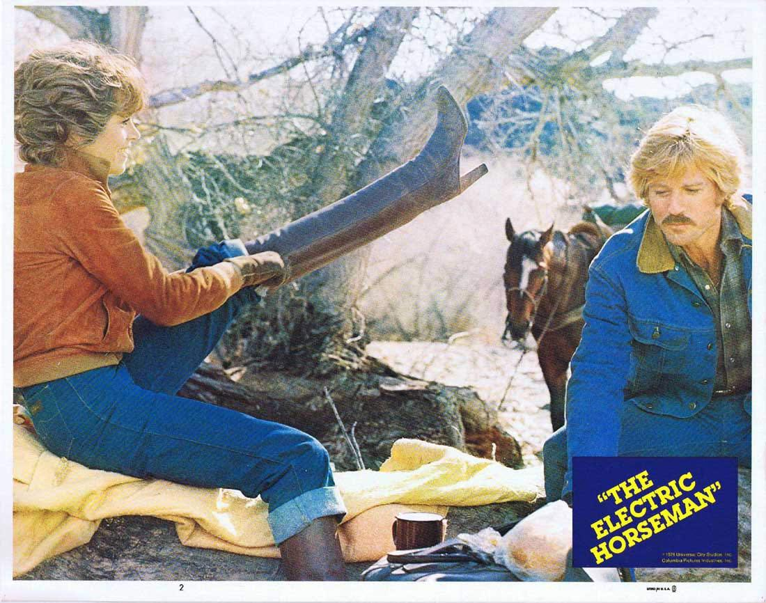 THE ELECTRIC HORSEMAN Lobby Card 2 Robert Redford Jane Fonda Valerie Perrine
