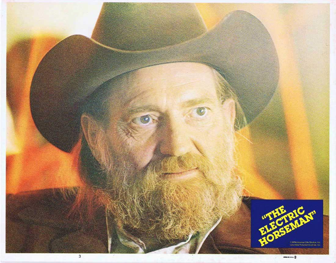 THE ELECTRIC HORSEMAN Lobby Card 3 Willie Nelson Robert Redford Jane Fonda Valerie Perrine