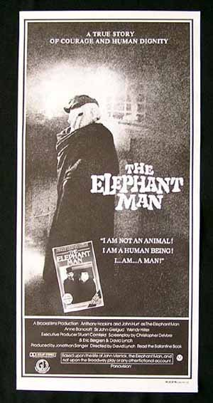 THE ELEPHANT MAN Original Daybill Movie Poster David Lynch John Hurt