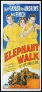 ELEPHANT WALK Original Daybill Movie Poster ELIZABETH TAYLOR Dana Andrews Richardson Studio
