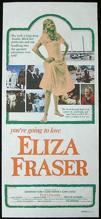 ELIZA FRASER Daybill Movie poster 1976 Tim Burstall DAVID WILLIAMSON