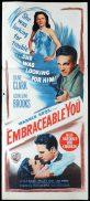 EMBRACEABLE YOU Original Daybill Movie Poster Dane Clark Film Noir