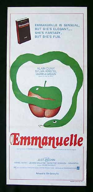 EMMANUELLE Original daybill Movie Poster 1974 Sylvia Kristel Sexploitation