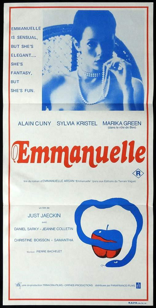 EMMANUELLE Rare Daybill Movie poster Sexploitation Just Jaeckin Sylvia Kristel