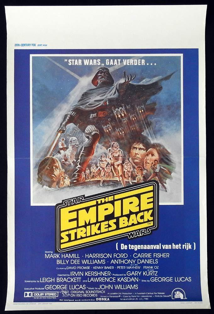 THE EMPIRE STRIKES BACK Original BELGIAN Movie Poster