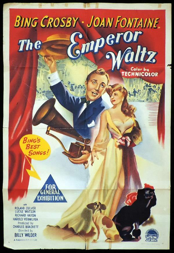 THE EMPEROR WALTZ One sheet Movie poster Bing Crosby Joan Fontaine