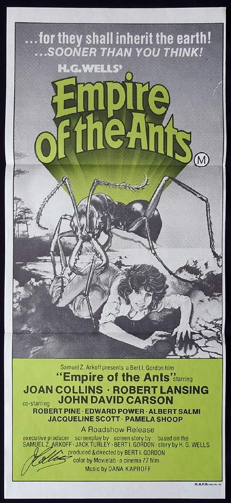 EMPIRE OF THE ANTS Original Daybill Movie poster JOAN COLLINS Autographed