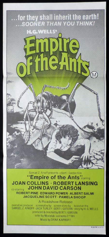 EMPIRE OF THE ANTS Original Daybill Movie Poster Joan Collins Sci Fi