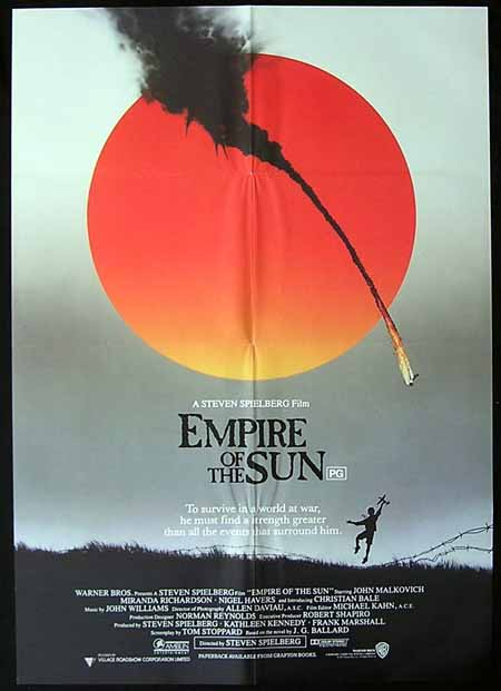 EMPIRE OF THE SUN '87-Spielberg-Malkovich 1sh poster