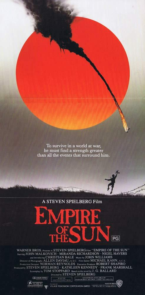 EMPIRE OF THE SUN Original daybill Movie poster Miranda Richardson John Alvin art