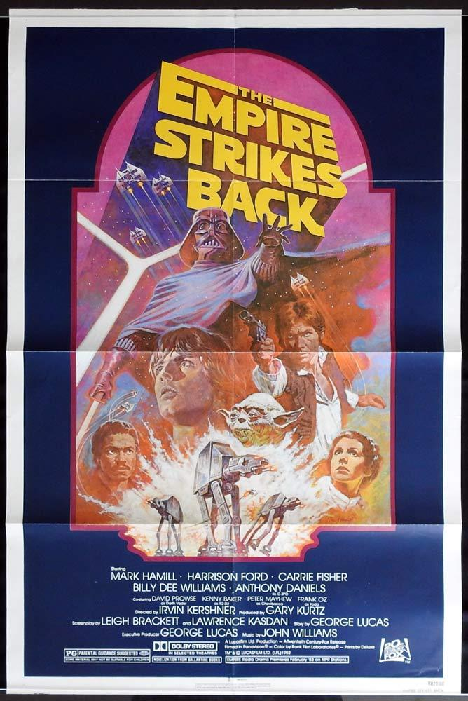 THE EMPIRE STRIKES BACK Star Wars ORIGINAL 1982r US 1sh Poster